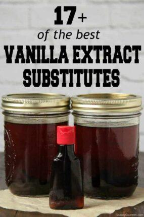 Bottles of vanilla