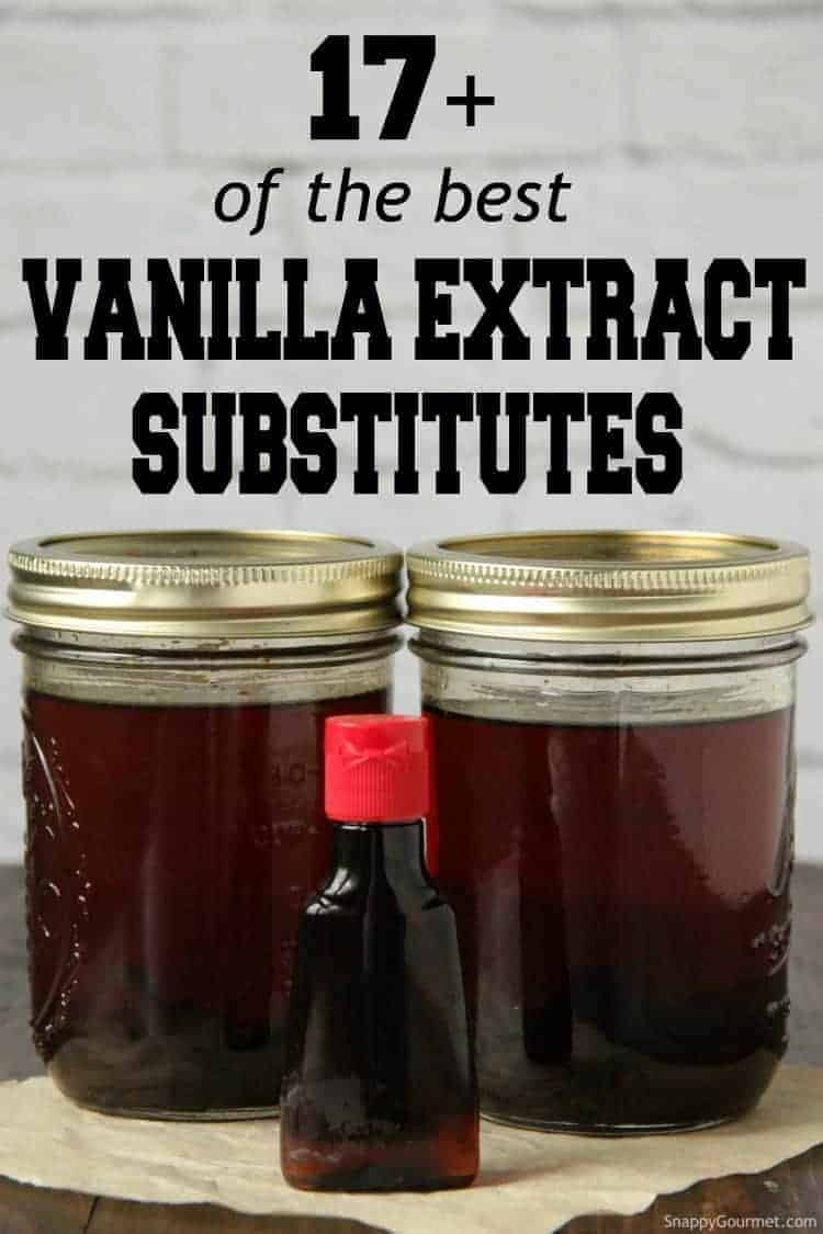 Bottles of vanilla