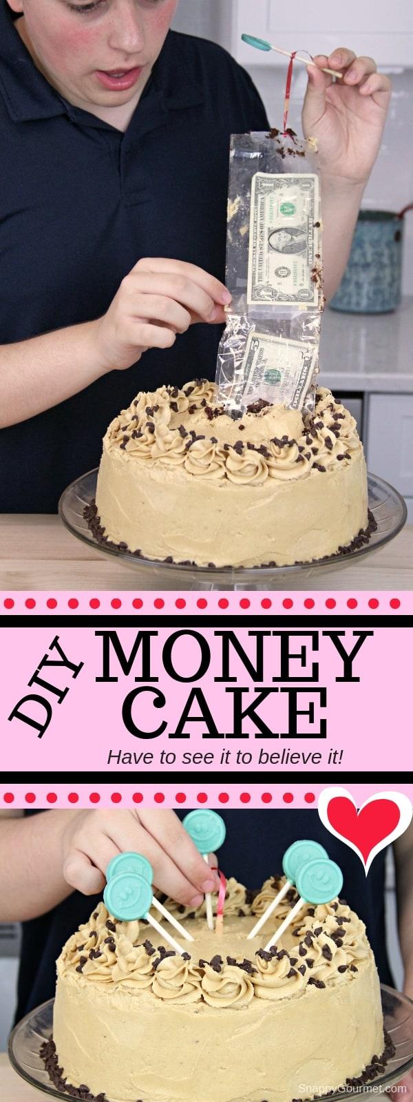 Money Cake collage