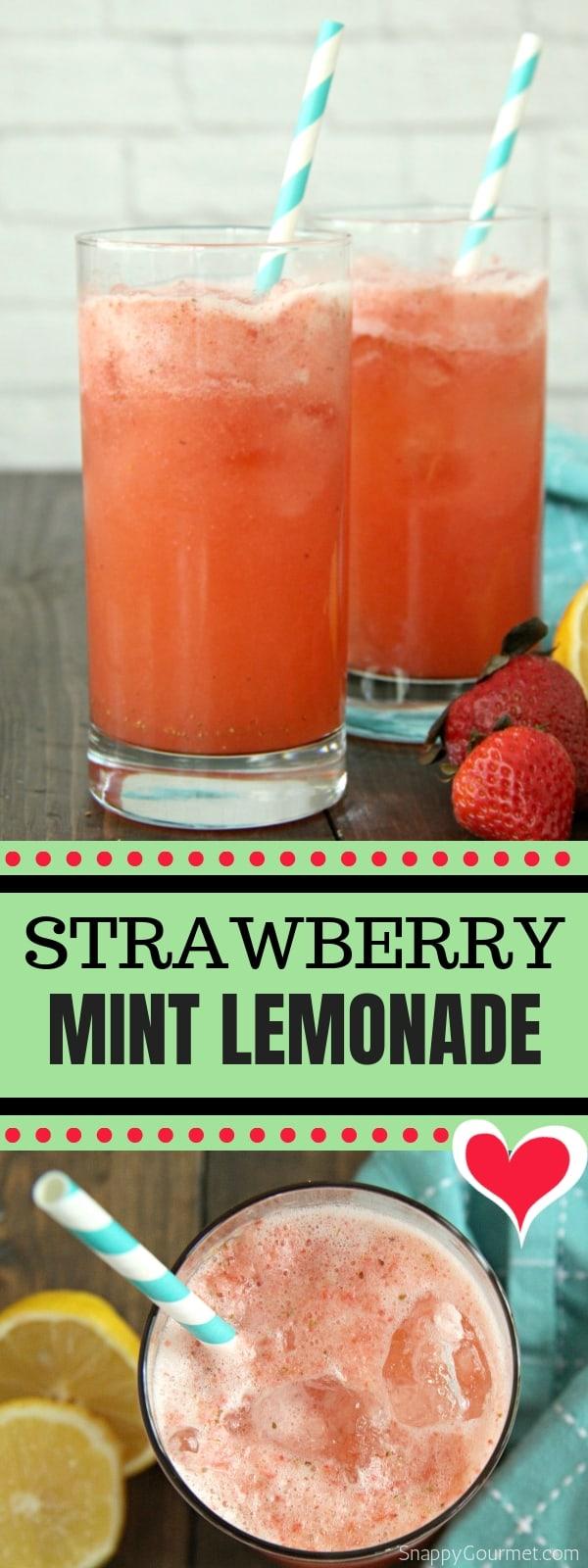 Strawberry Mint Lemonade photo collage