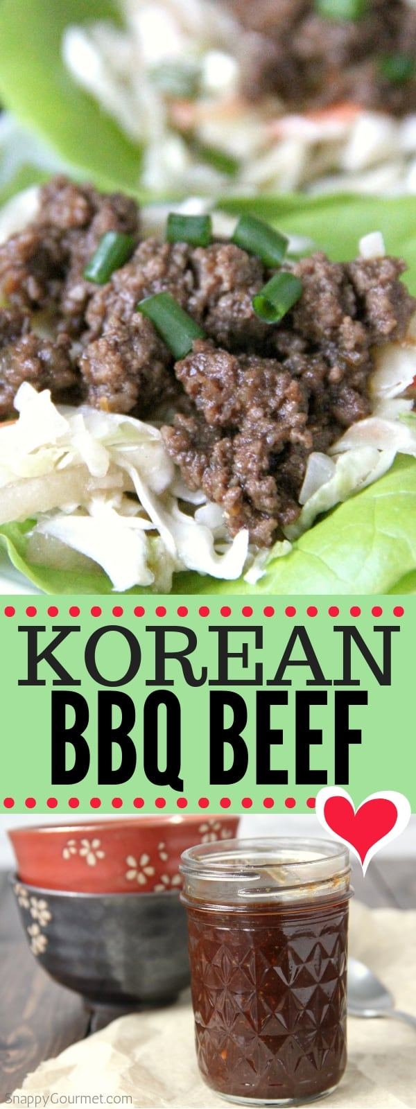 Korean BBQ Beef collage