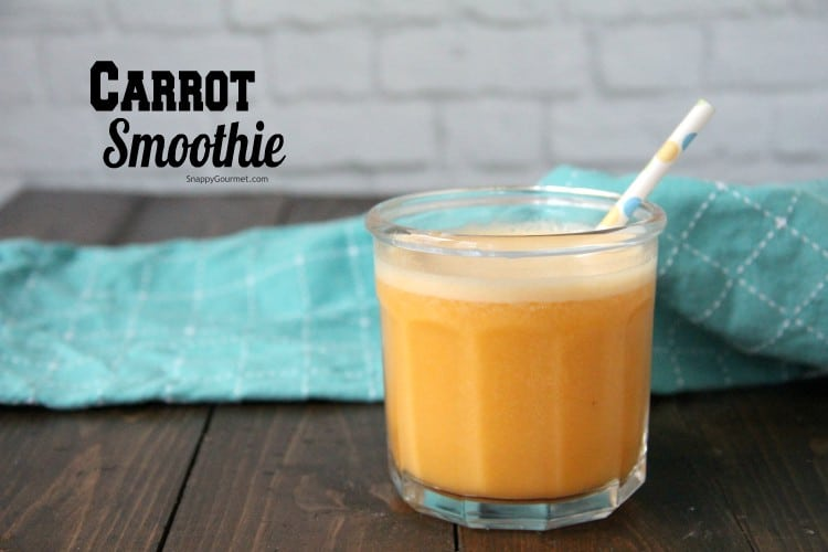 carrot smoothie in glass