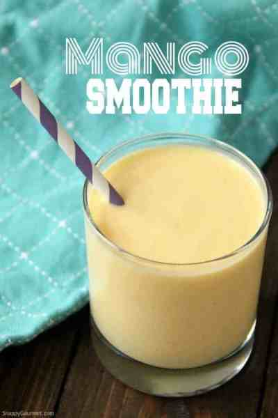 mango smoothie in glass