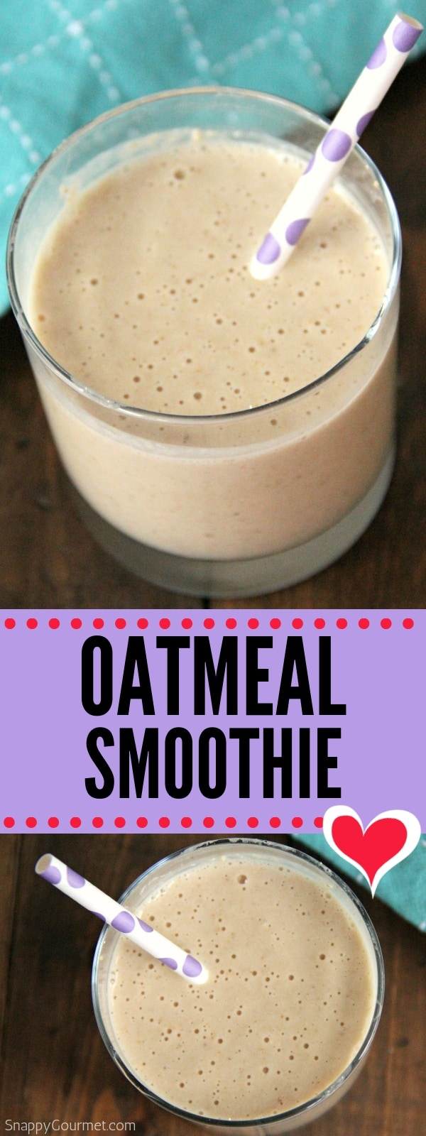 oatmeal smoothie photo collage