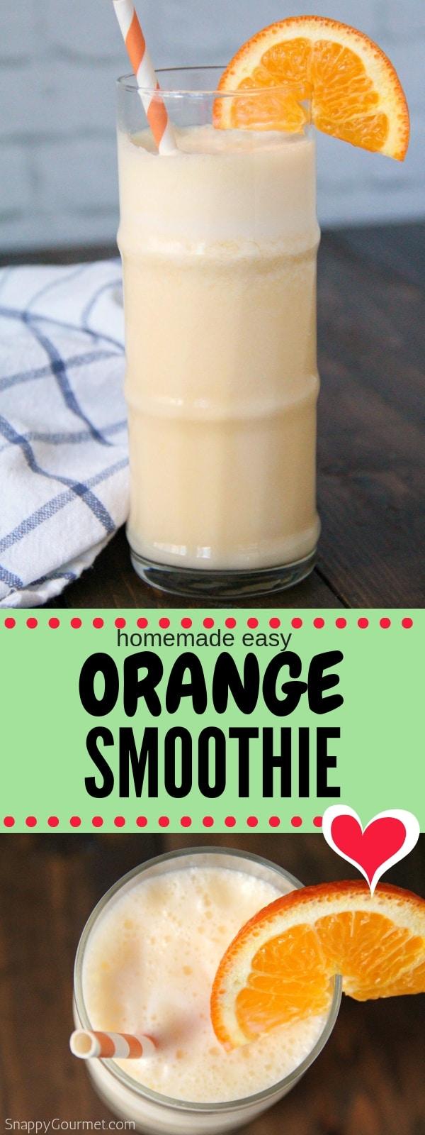 Orange Smoothie photo collage
