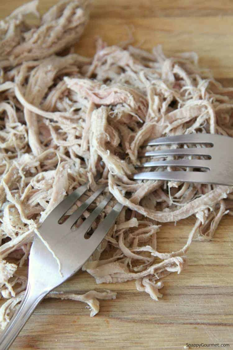 two forks pulling pork