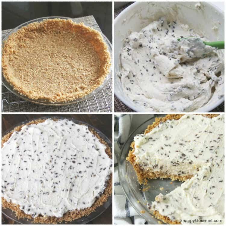 cannoli pie crust and no bake cannoli cream filling