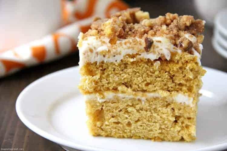 Pumpkin Crunk Cake closeup