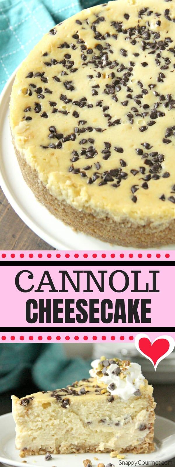 cannoli cheesecake collage
