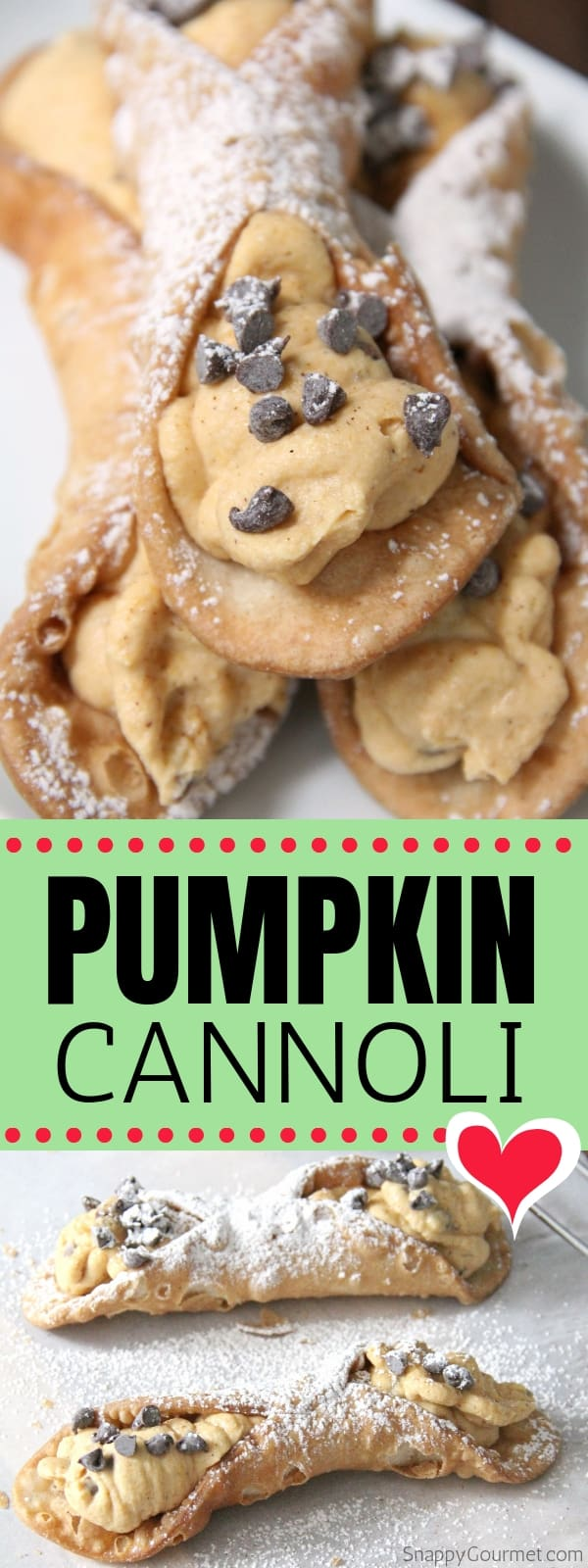 pumpkin cannoli collage