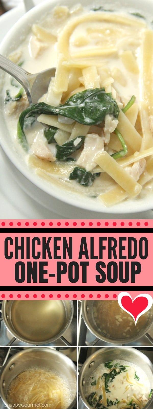 Chicken Alfredo Soup collage
