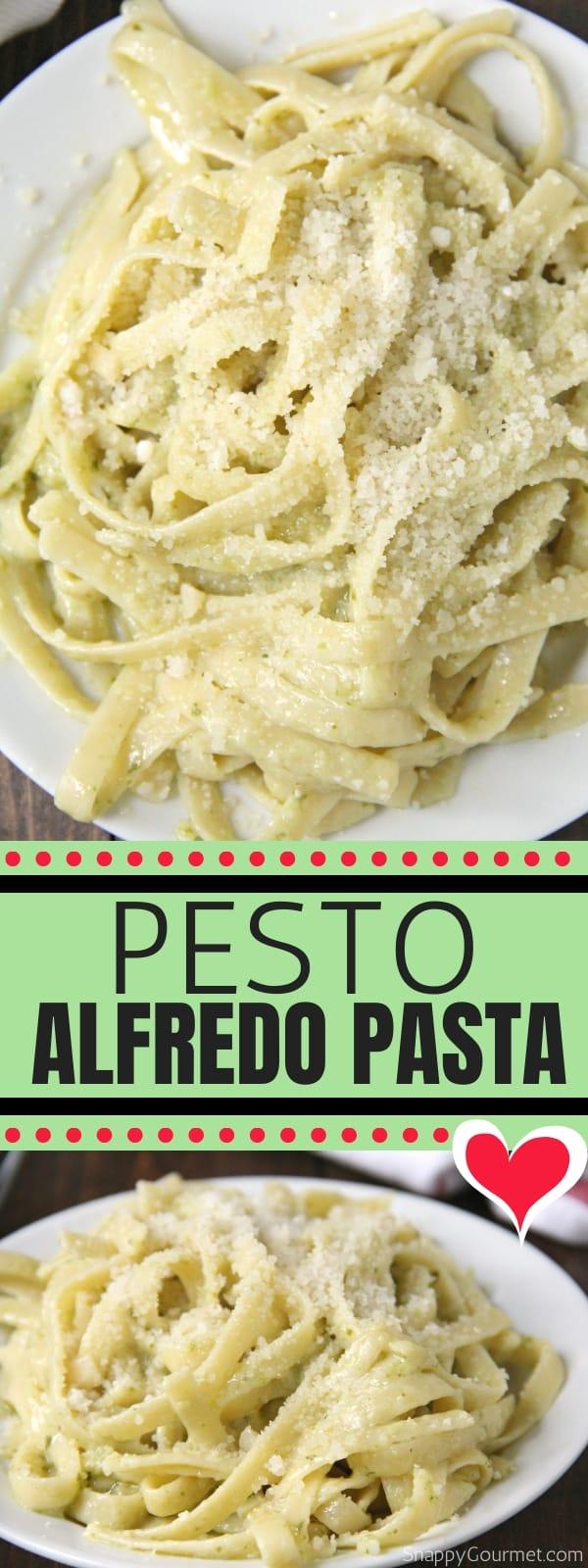 Pesto Alfredo collage