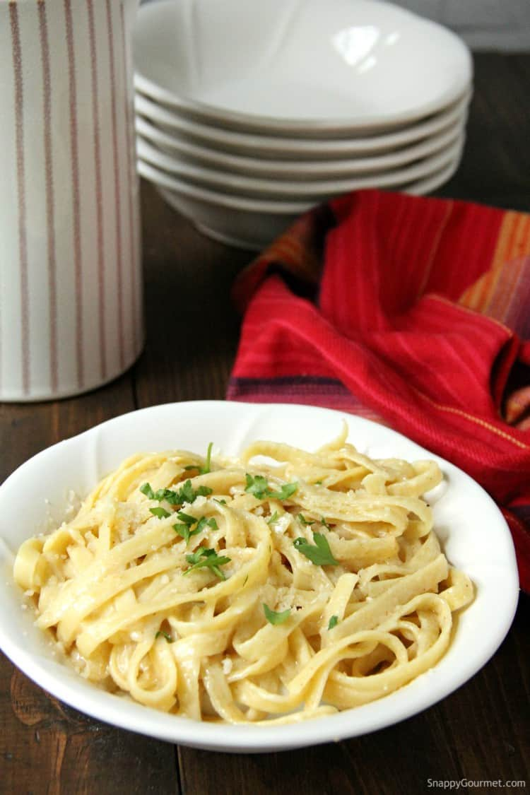 homemade Spicy Alfredo in bowl