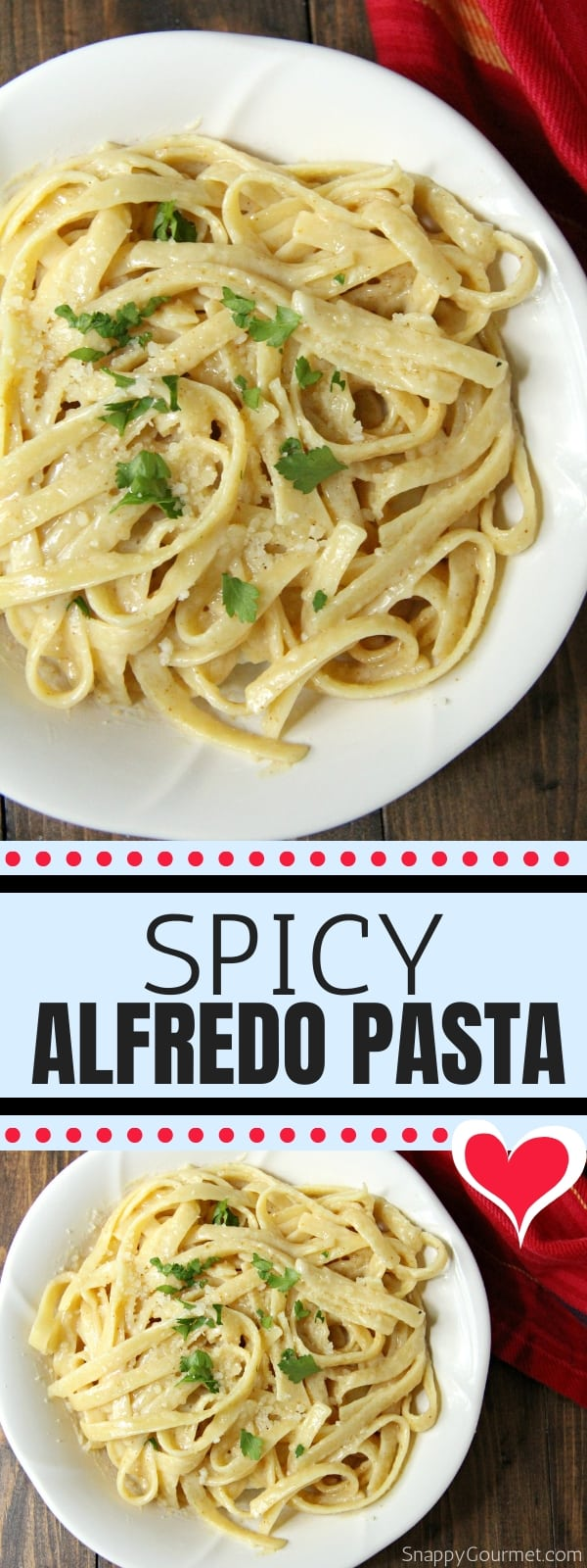 Spicy Alfredo collage