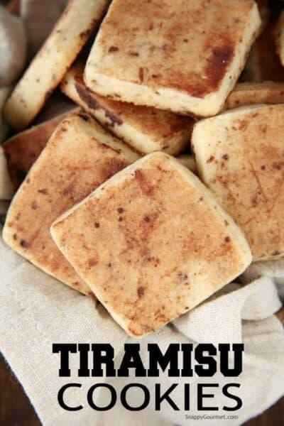 Closeup of Tiramisu Cookies