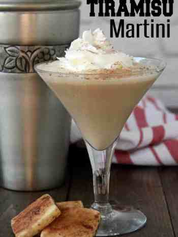 Tiramisu Martini in martini glass