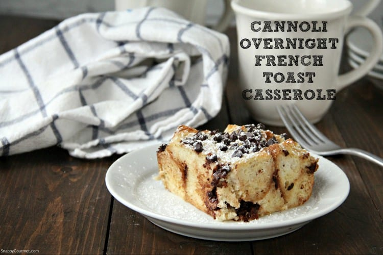 Cannoli French Toast on plate with powdered sugar