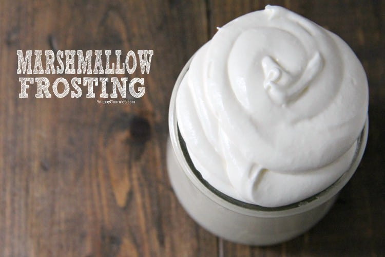 fluffy marshmallow frosting in jar