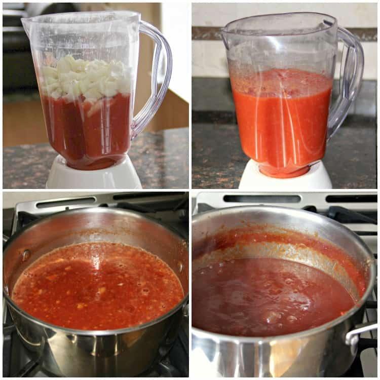 root beer bbq sauce in blender
