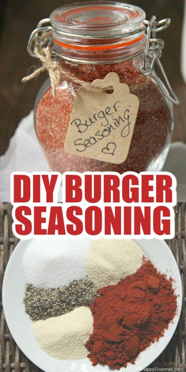 homemade burger seasoning collage