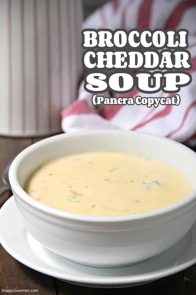 homemade Panera copycat Broccoli Cheddar Soup in bowl