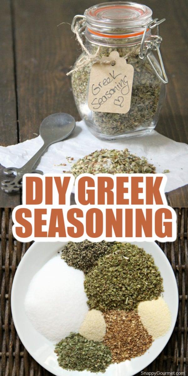 collage of Greek Seasoning