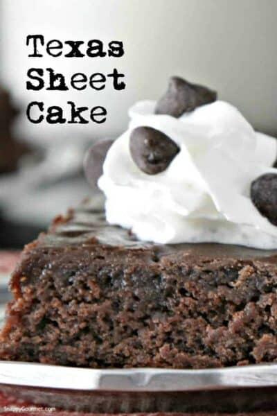 closeup of chocolate Texas Sheet Cake