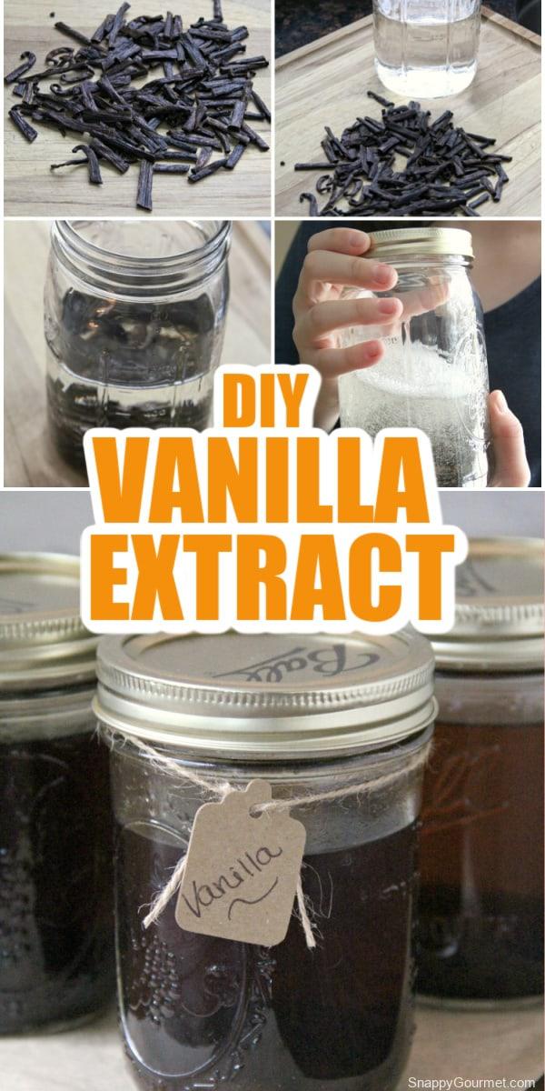 collage of vanilla extract