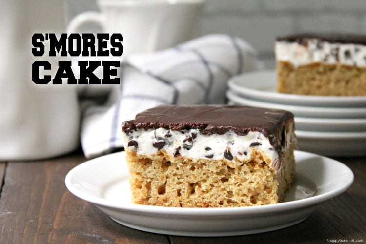 S'mores Cake on plate