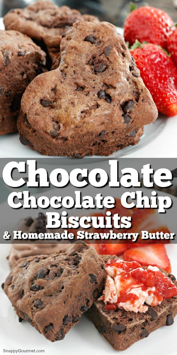 collage of Chocolate Chocolate Chip Biscuits