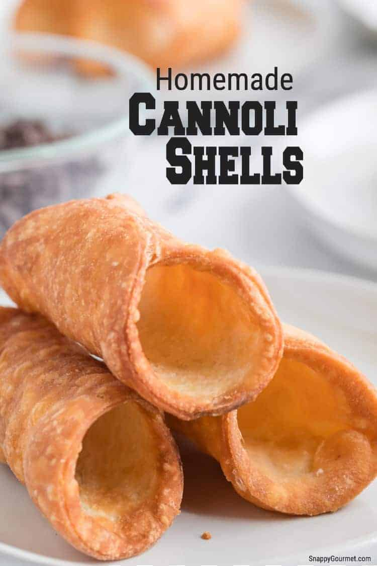 homemade unfilled fried cannoli shells