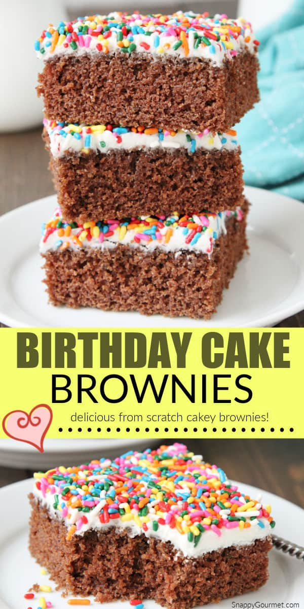 birthday brownies collage