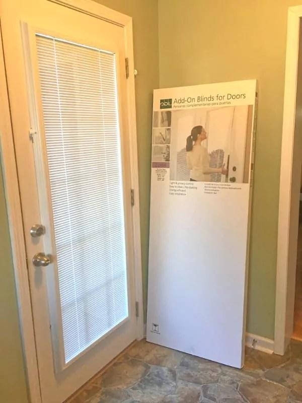 door blinds transform a glass door