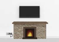 Snappymount | Gold Fireplace Mount Medium | TV Installation
