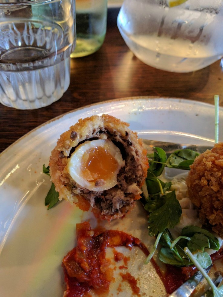 inside scotch eggs