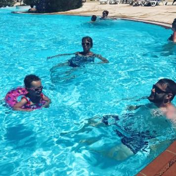 summer holiday pool