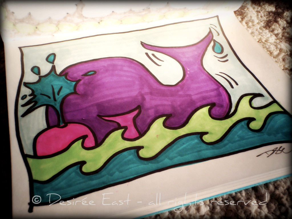 quick whale illustration. by desiree east