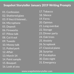 "Snapshot Storyteller | ""January 2019 Writing Prompts"" 