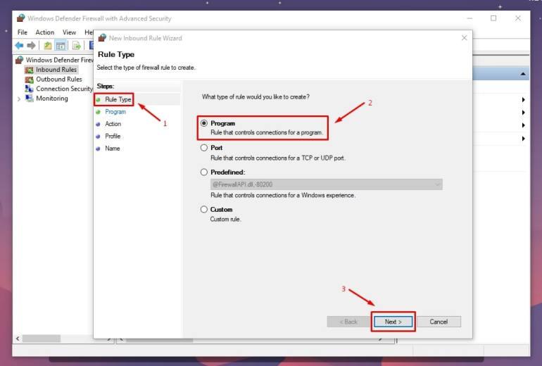 cara blok aplikasi dengan firewall windows 3