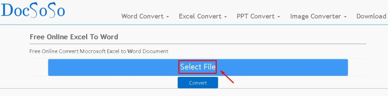 copy excel word docsoso step 1