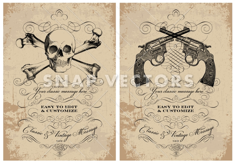 vector clipart skull and