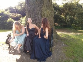 bench_gina_clara_alyson_laughing