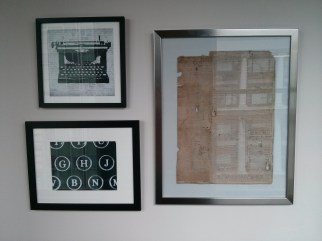framed_pictures_and_newspaper_rubber_blanket
