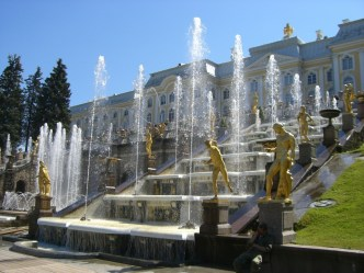 The famous fountains of Petergof.