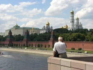 Looking toward the Kremlin, Moscow.