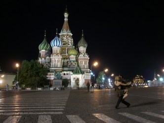 Tango time on Red Square, Moscow