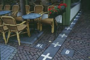 Baarle-Nassau restaurant, on the border between Belgium and the Netherlands.