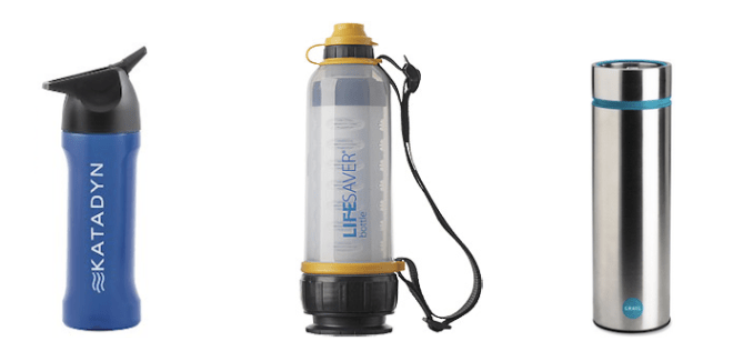 Water purifier bottles