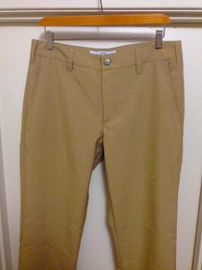 Bluffworks travel pants front view