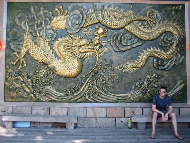 Dragon background in Taiwan